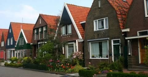 Rij huizen in nederland