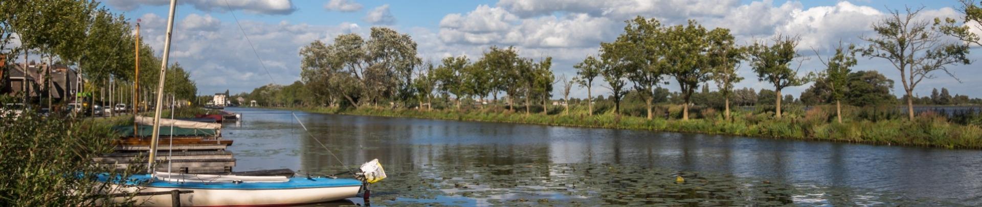 Foto van de Breevaart in Reeuwijk